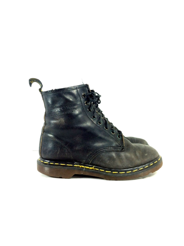 womens doc marten combat boots 8 black lace by