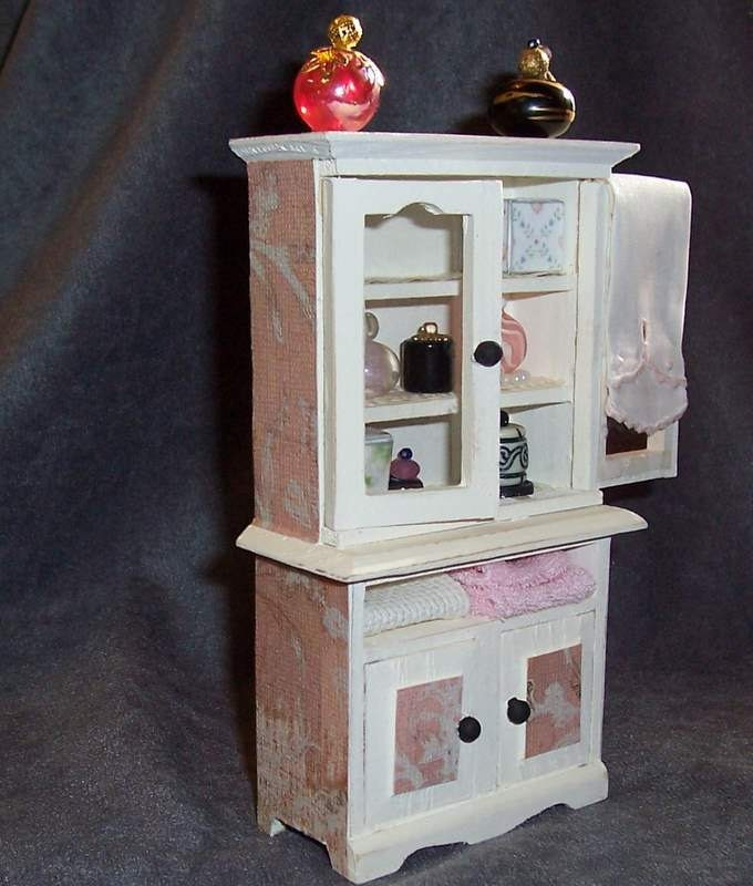 Bathroom Cabinet Shabby Chic Filled With By TreasuresFromTexas