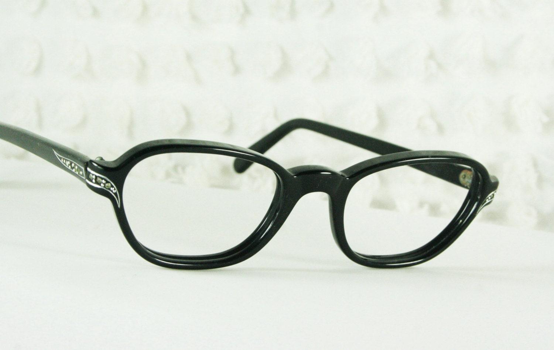 Cat Eye Rhinestone Eyeglass Frames : 60s Cat Eye Glasses 1960s Rhinestone Eyeglasses by DIAeyewear
