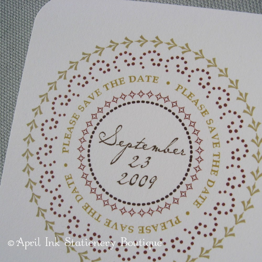 Pretty Fall Circles Save the Date Cards-Set of 20