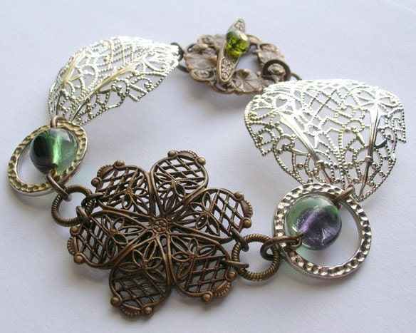 Snowflakes and Sunshine Filigree Bracelet