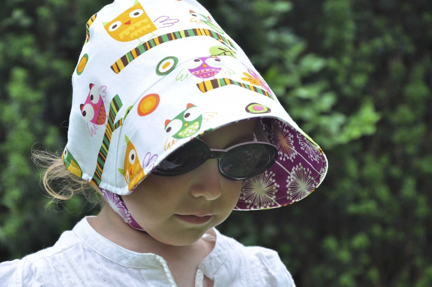 UB2 MINERVA (a wise and wonderful little owl of a sun hat) by THE URBAN BABY BONNET available in ALL SIZES