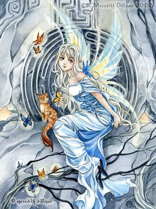 5x7 print Labyrinth Fairy