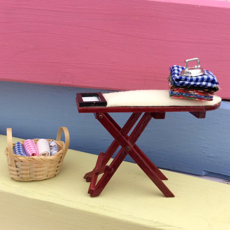 Dolls House  Fairy Door  Miniature Ironing Set