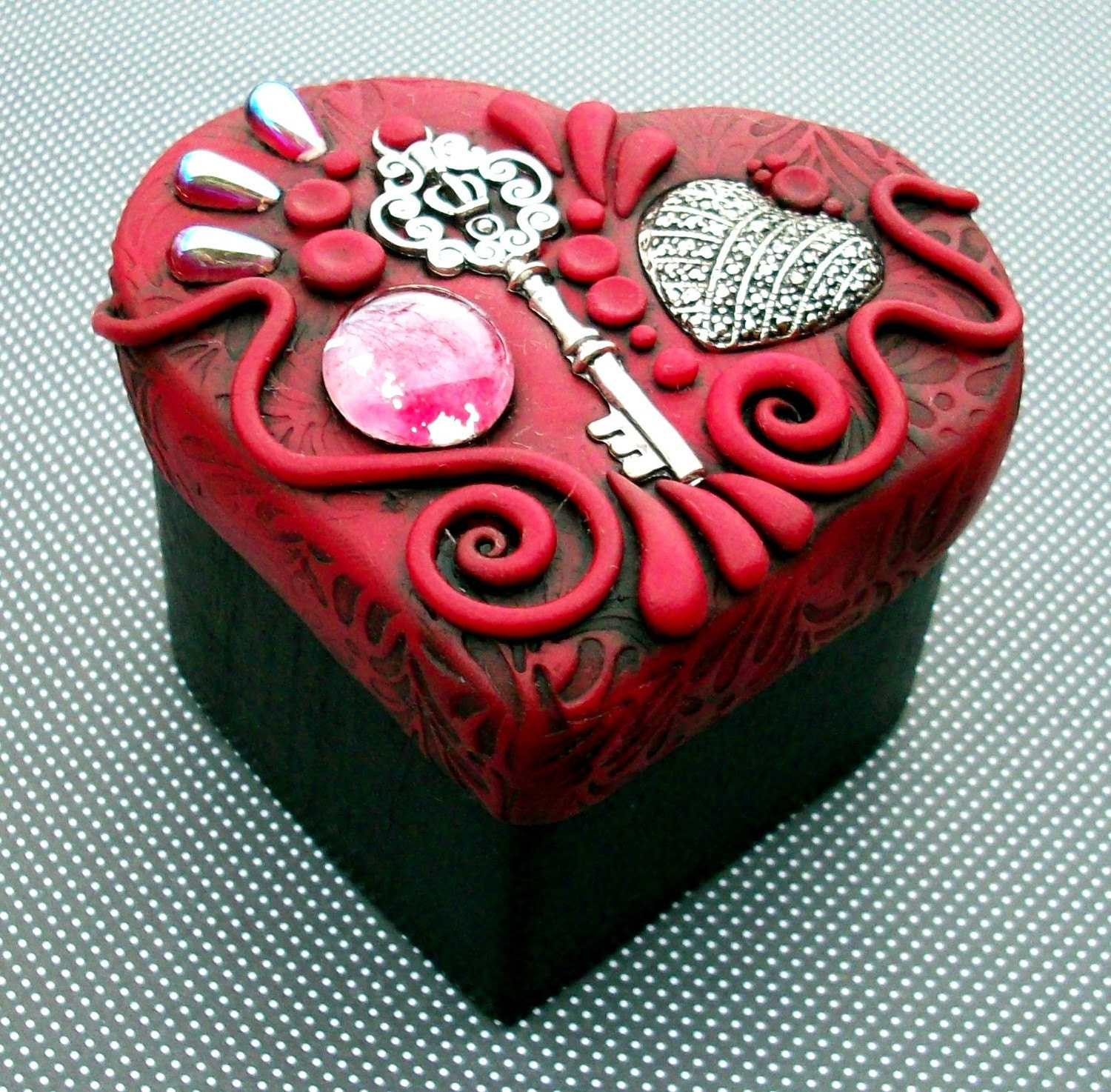 Valentine Key to My Heart Trinket Keepsake Box