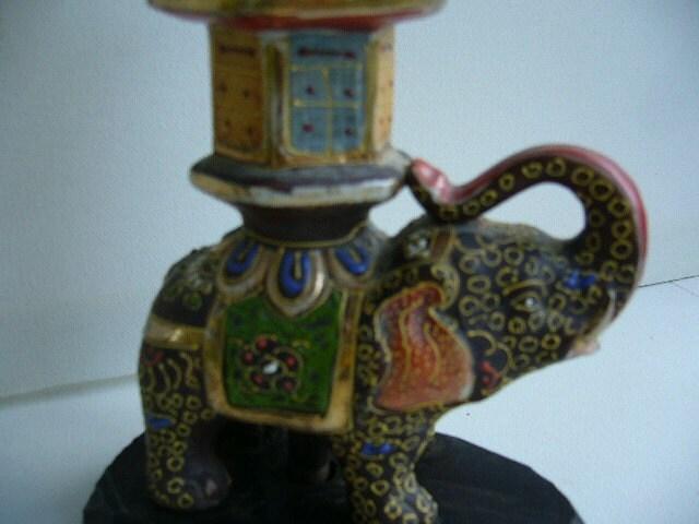 Vintage Satsuma Elephant Lamp 1930s By Modernlogic On Etsy