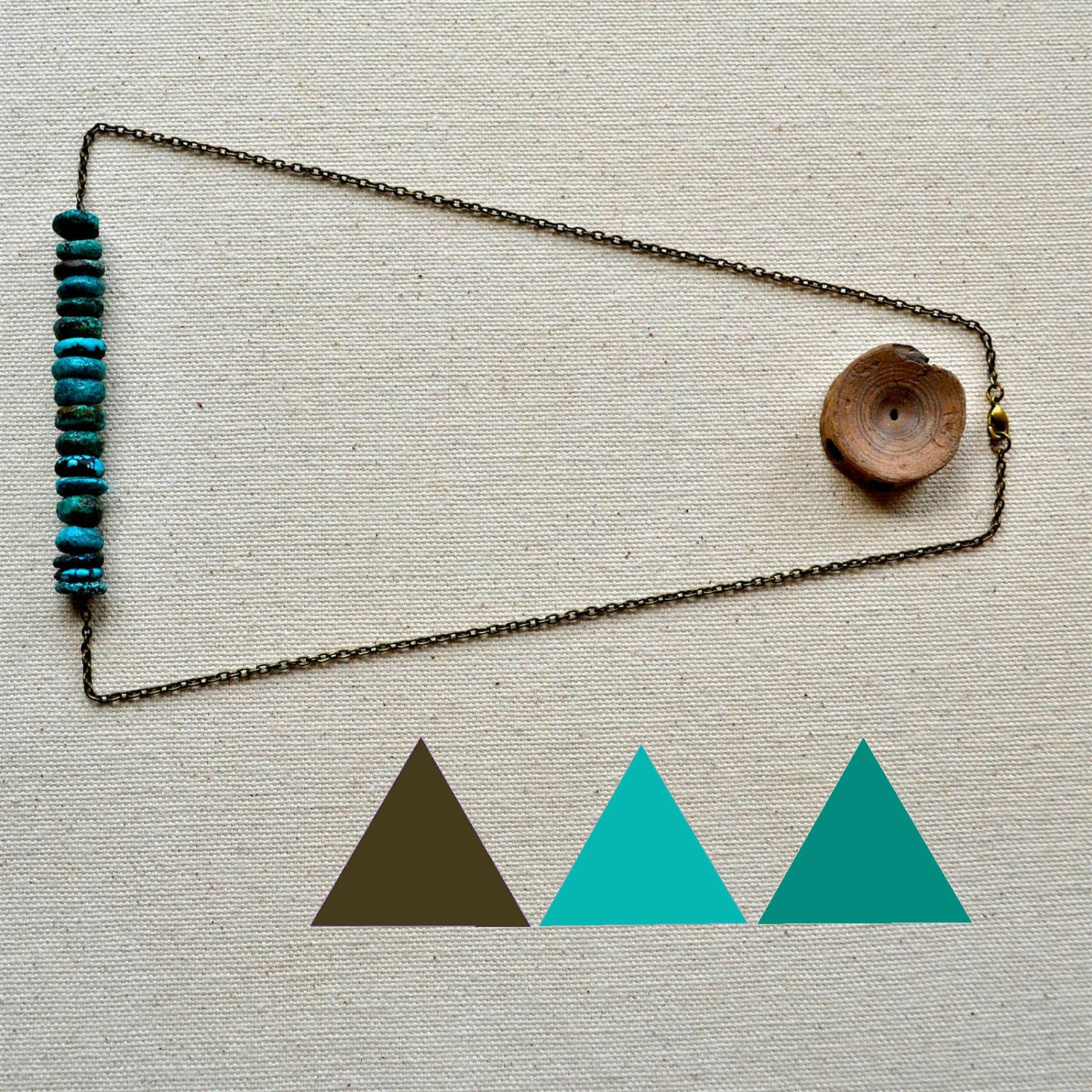 brevity necklace in turquoise v.2