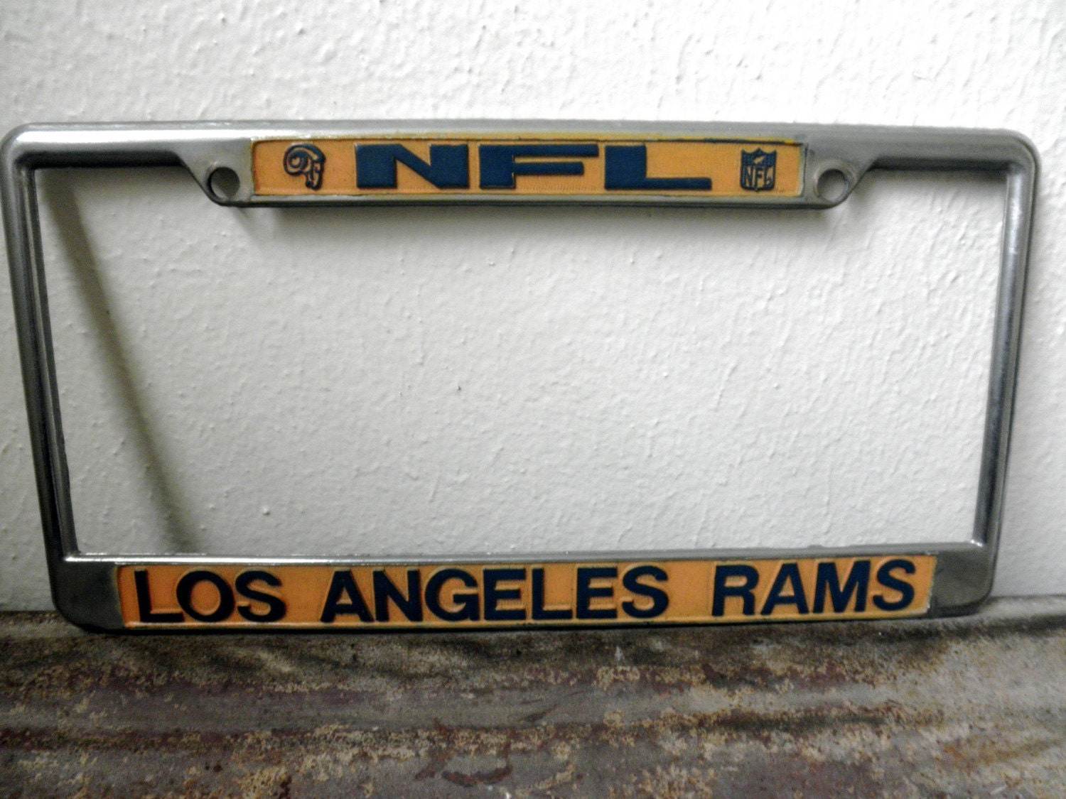 Vintage La Rams License Plate Frame By Desertmoss On Etsy