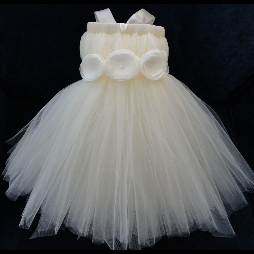 Ivory Flower Girl Dress For Girls By StrawberrieRose On Etsy