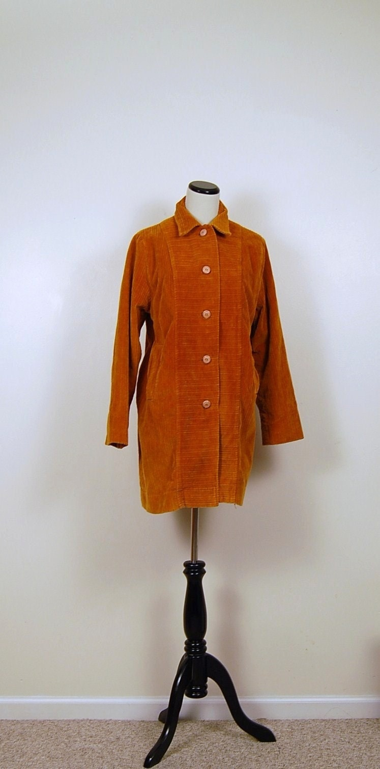 Vintage 1970's Golden CORDUROY  Boho Jacket ....... Fall 2010 collection
