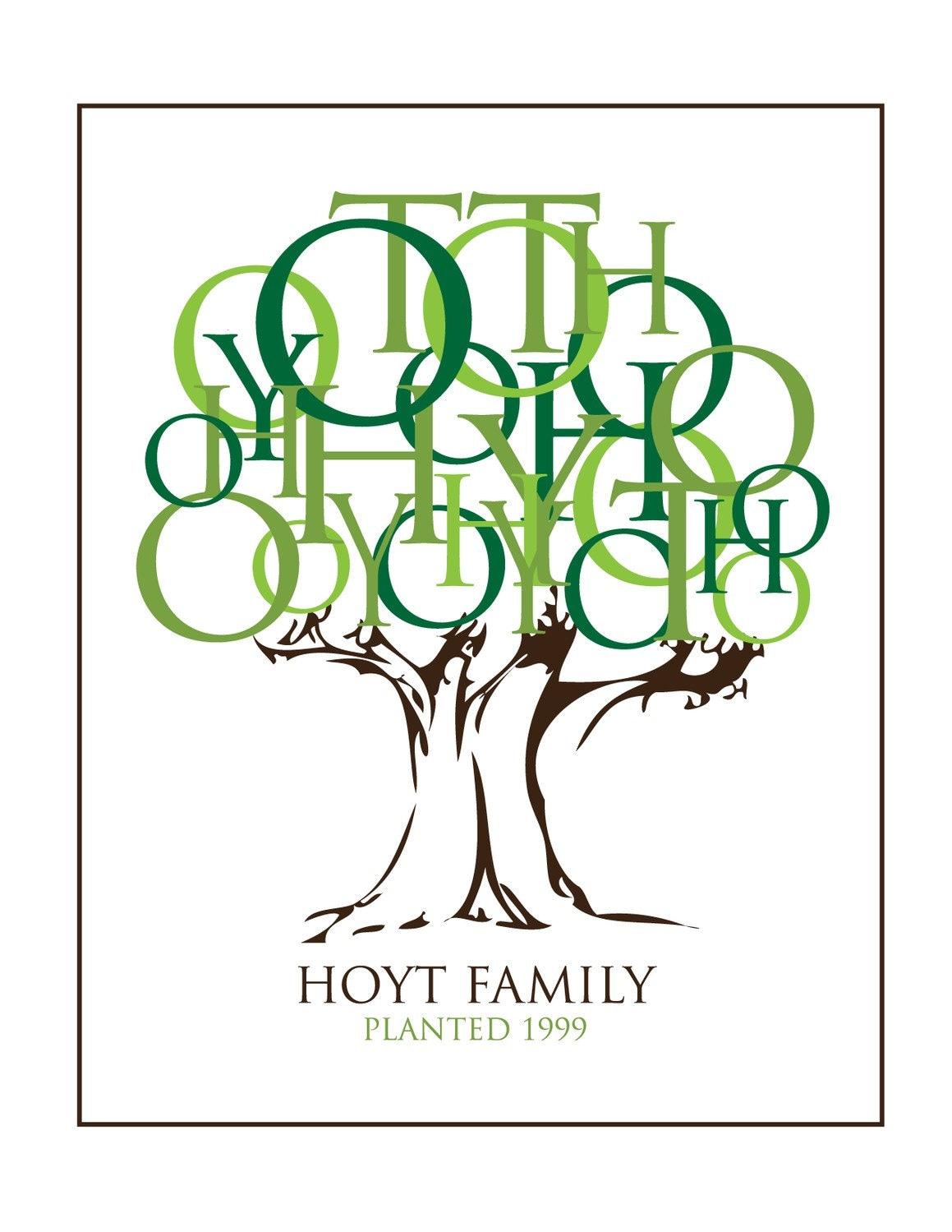 Family Name Tree Print