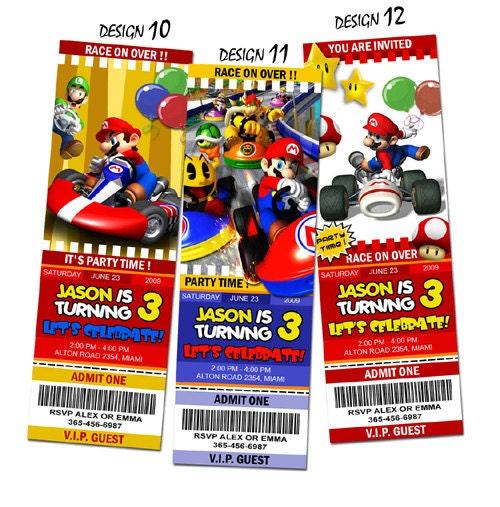 Super Mario Birthday Invitations and get inspiration to create nice invitation ideas