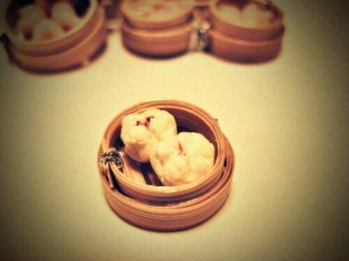 Dollhouse Miniature 1/12 Scale Yum Cha BBQ Pork Bun in Steam Basket