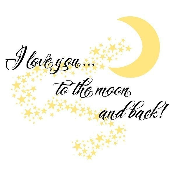 Childrens Vinyl Wall Decal- I Love You to the Moon and Back--LARGE SIZED