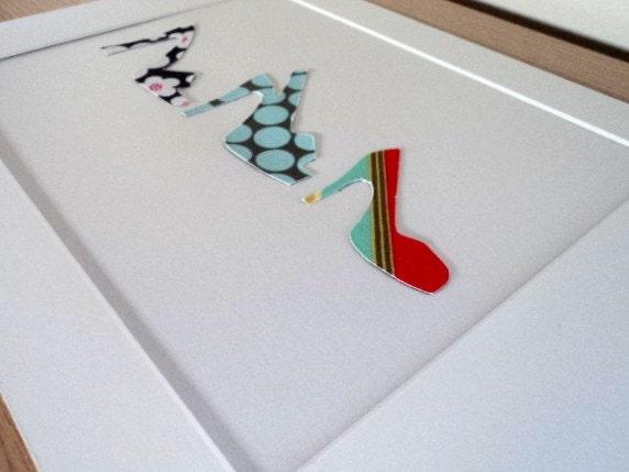 Three Shoes - Fabric Artwork