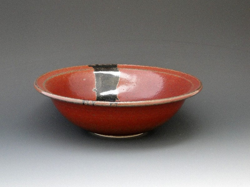 Cereal/ IceCream/ Soup Bowl Rust Iron Red
