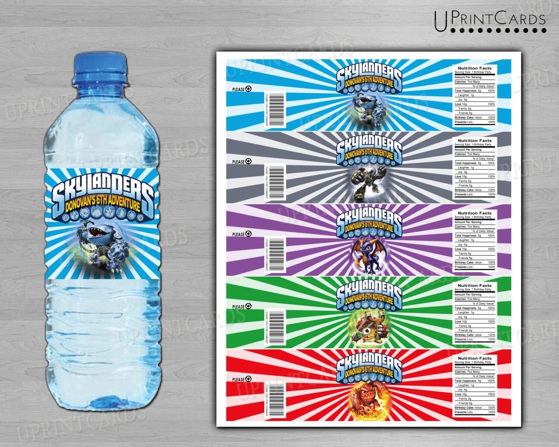 DIY PRINTABLE - Skylanders Giants Print Water Bottle/ Drink Wrapper