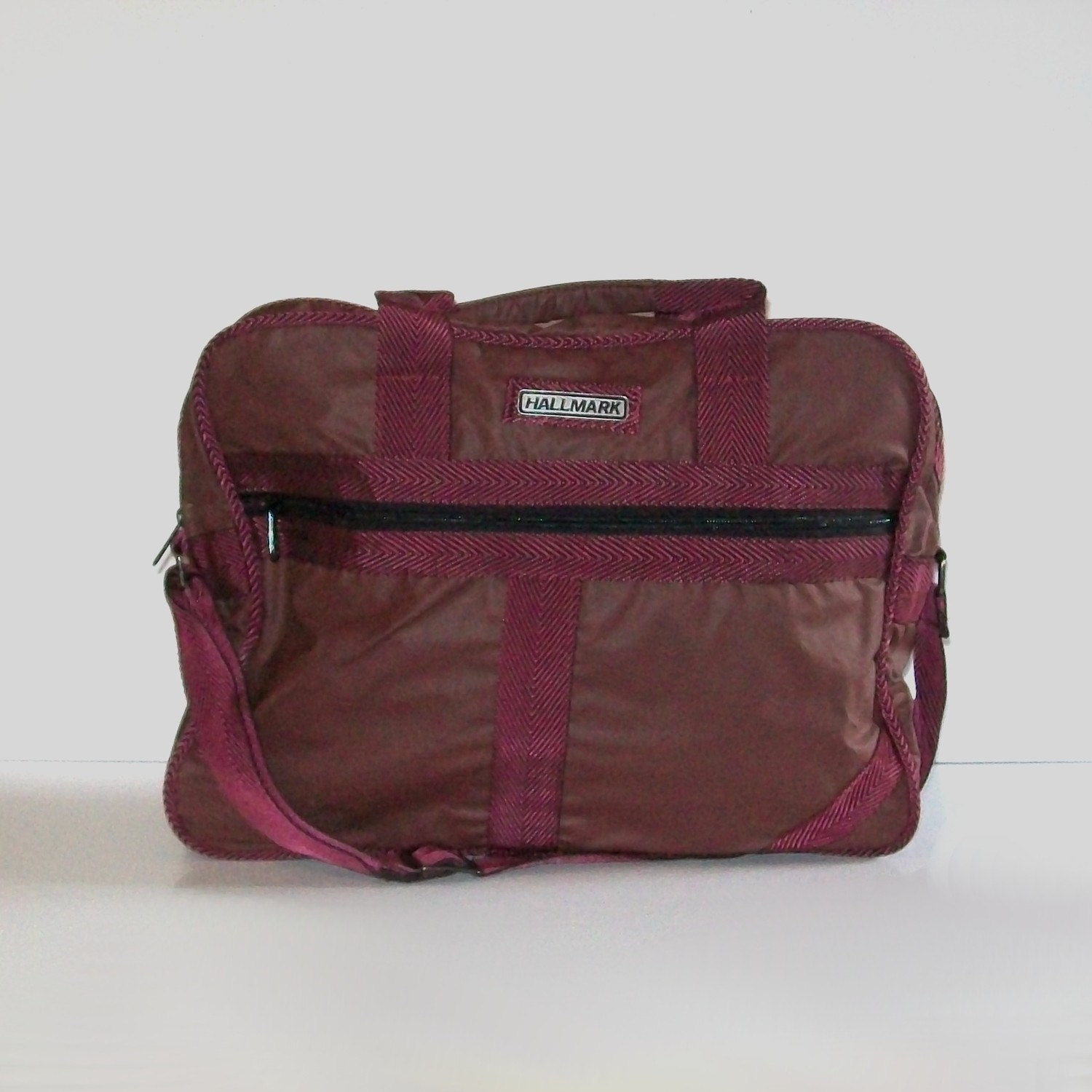 Vintage 80s BLACK CHERRY Travel Bag