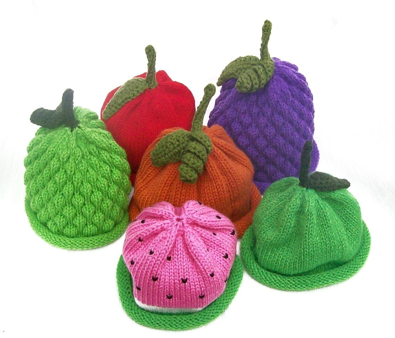کلاه میوه گره ترکیب و مطابقت 4 بسته اندازه های نوزادان -- شما انتخاب بزرگ برای هدیه دادن و پرتره عکاسی حرفه ای