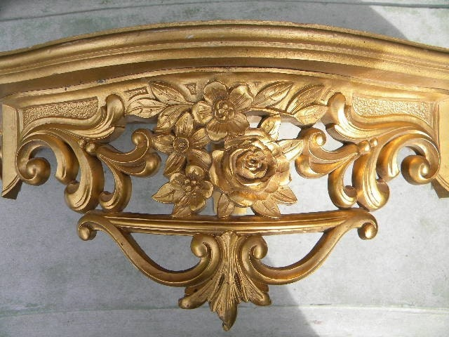 Large Vintage Gold Shelf