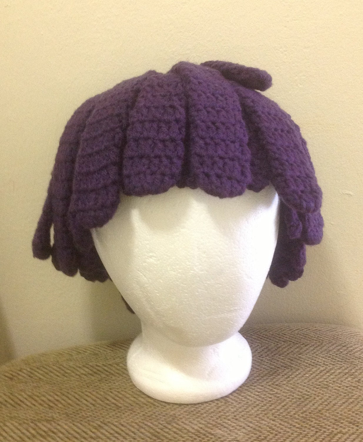 Crochet Hair Wig : Crochet Sid the Science Kid yarn Hair wig,women, baby, kids, purple ...