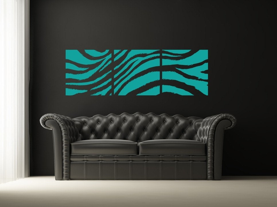 Zebra Print Wall Decal Collage