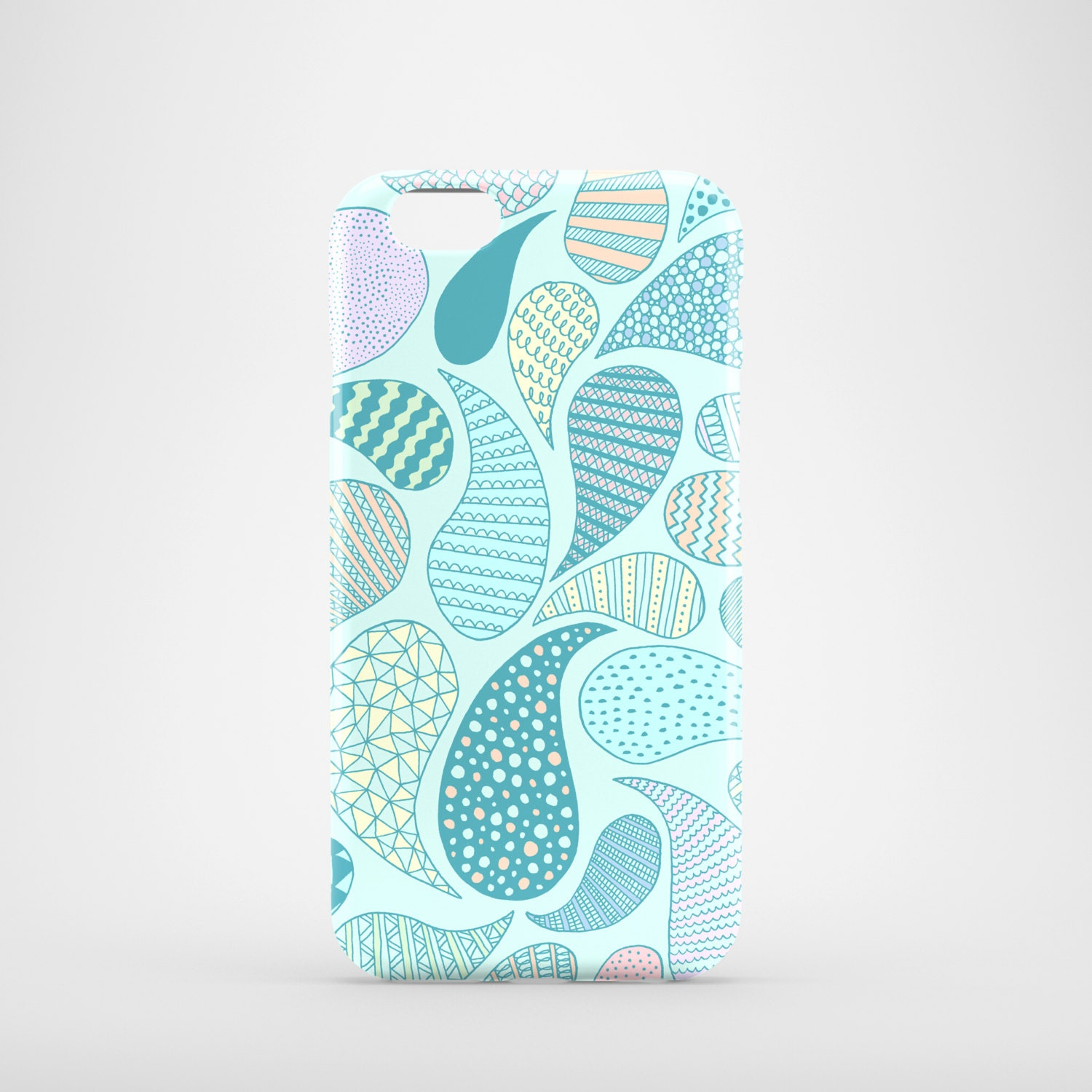 Pastel Paisley mobile phone case iPhone 7 iPhone 7 Plus iPhone SE iPhone 6S iPhone 6 iPhone 5S iPhone 5 illustrated blue phone case