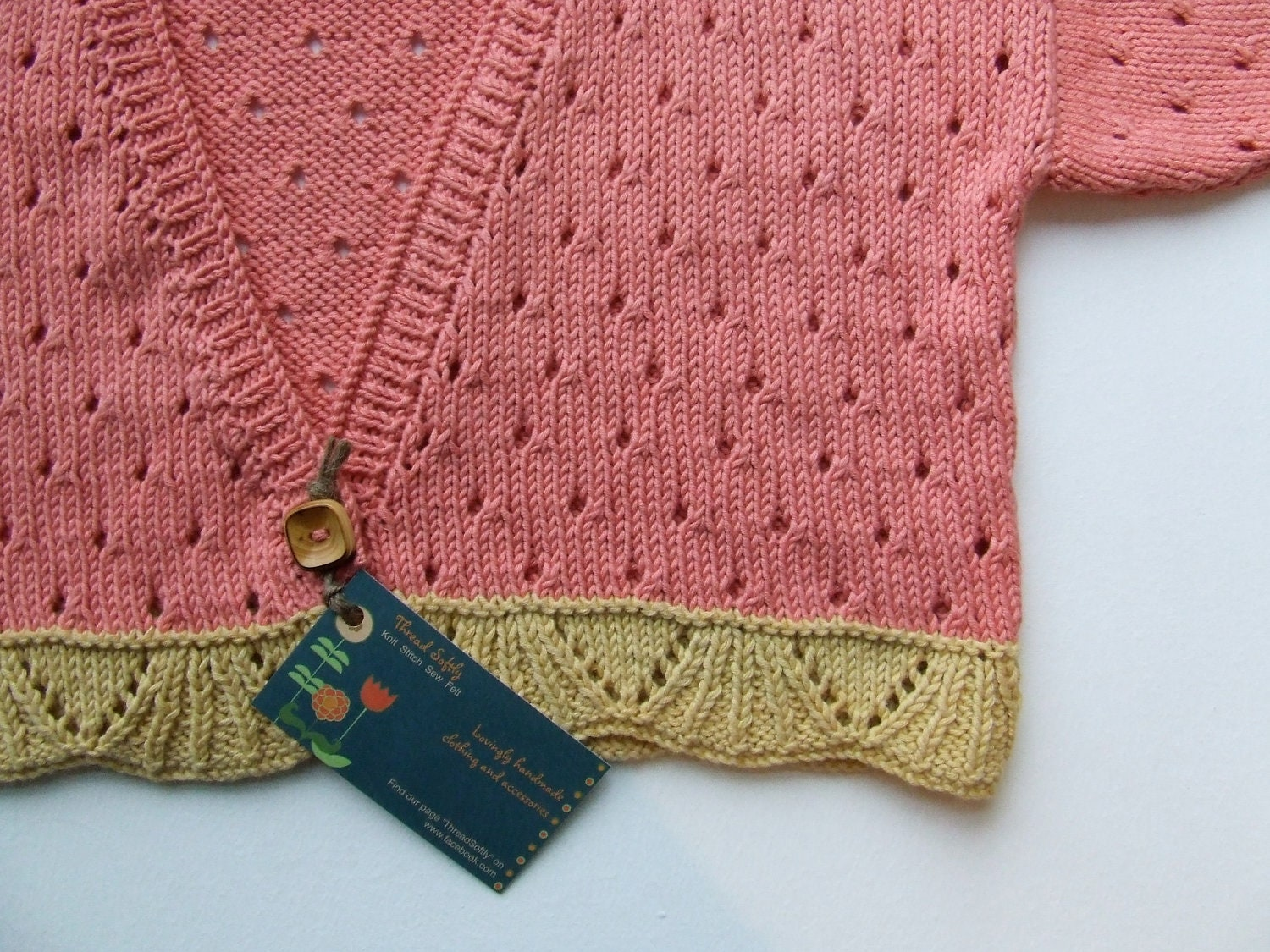 100% Organic cotton girls cardigan (age 5-6 years)