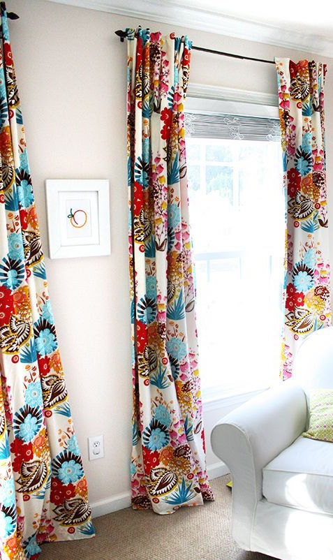 Floral curtains and drapes