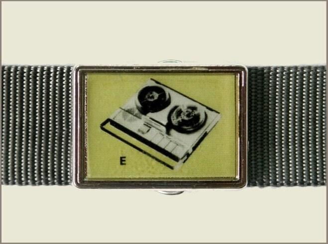 Retro Tape Recorder Buckle
