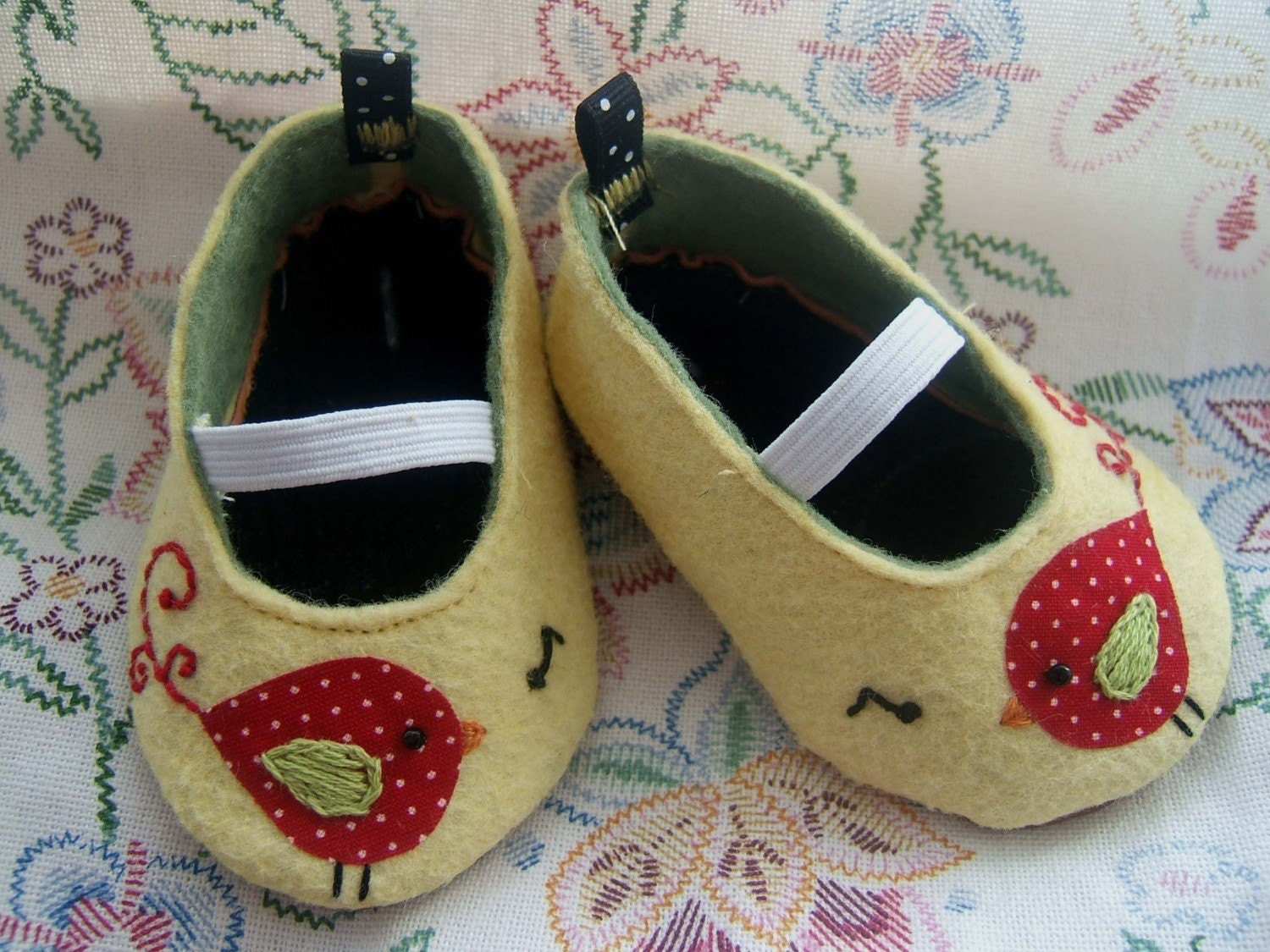 Chirp Wool Felt Baby Shoes- Sizes 1-6