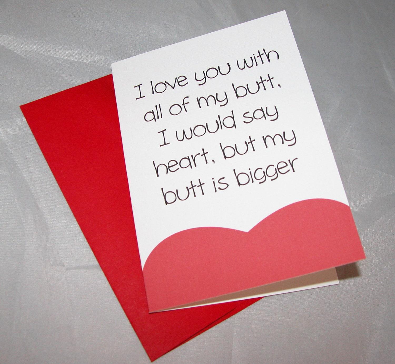 Bigg Butt Valentine's card