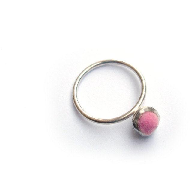 Interchangable Fuzzy Little Solitaire Ring - melmillerjewellery