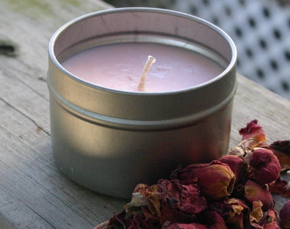 Rose Soy Wax Candle - 4oz (Vegan)