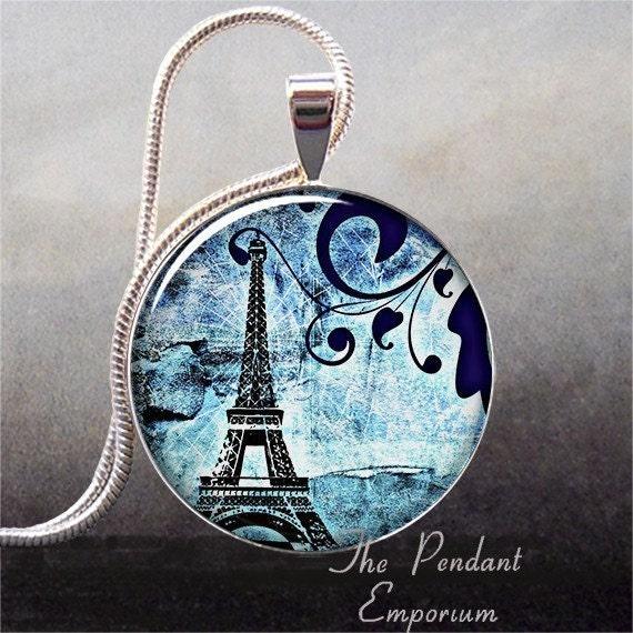 Paris Blues art pendant (100)
