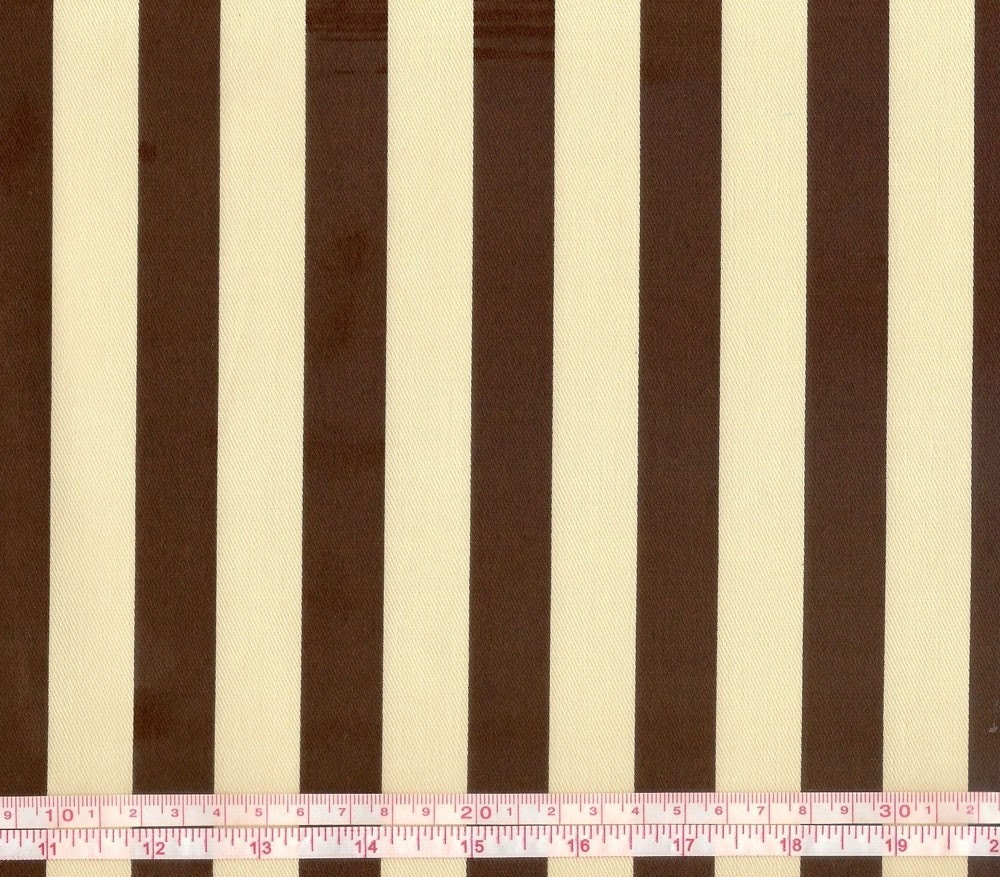 Beige and Brown Stripes - Japanese fabric (0.5 yard)