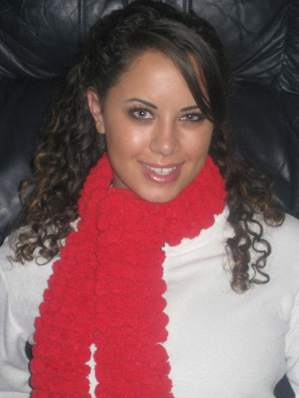 Knitted دستباف شال گردن Pompadoodle (قرمز)