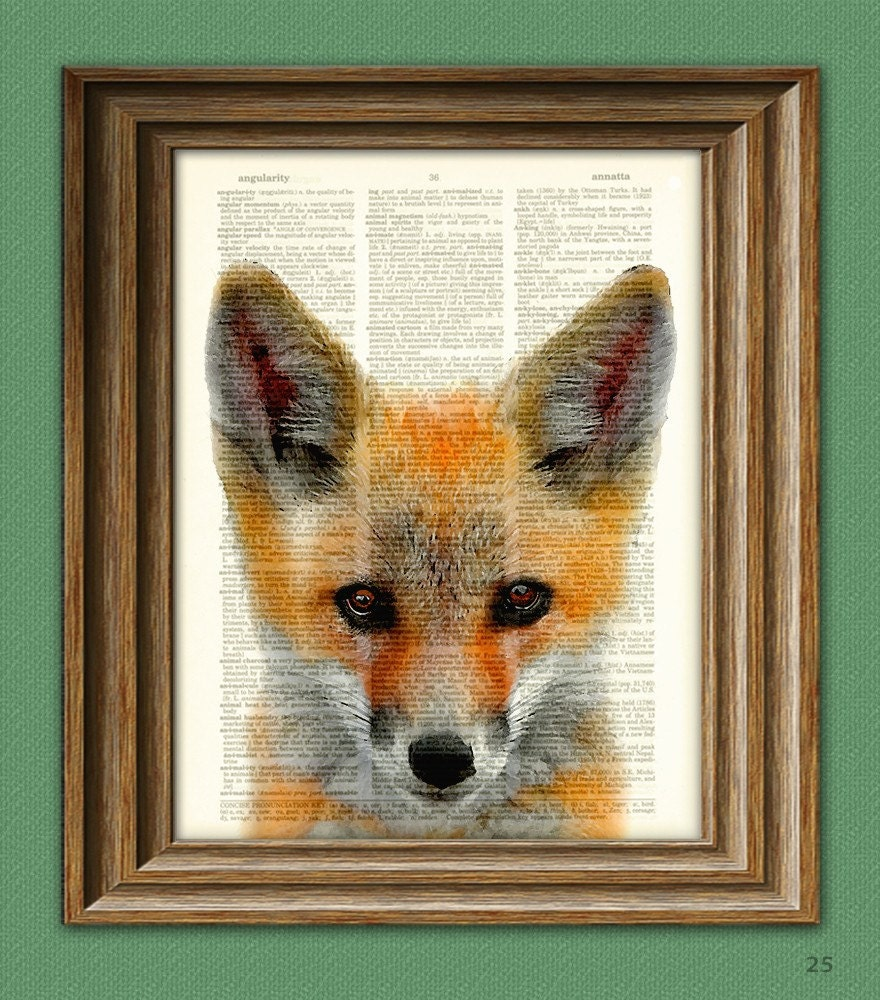 Vintage fox print