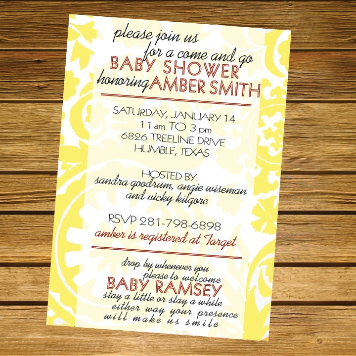 Come And Go Baby Shower Invitations as nice invitation example