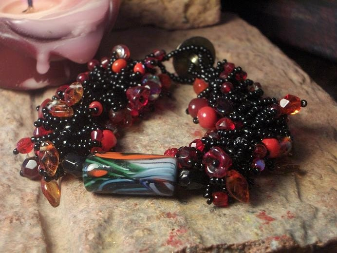 Hot Tamale Focal Bead Bracelet