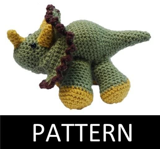 PDF Pattern - Triceratops Crochet Pattern