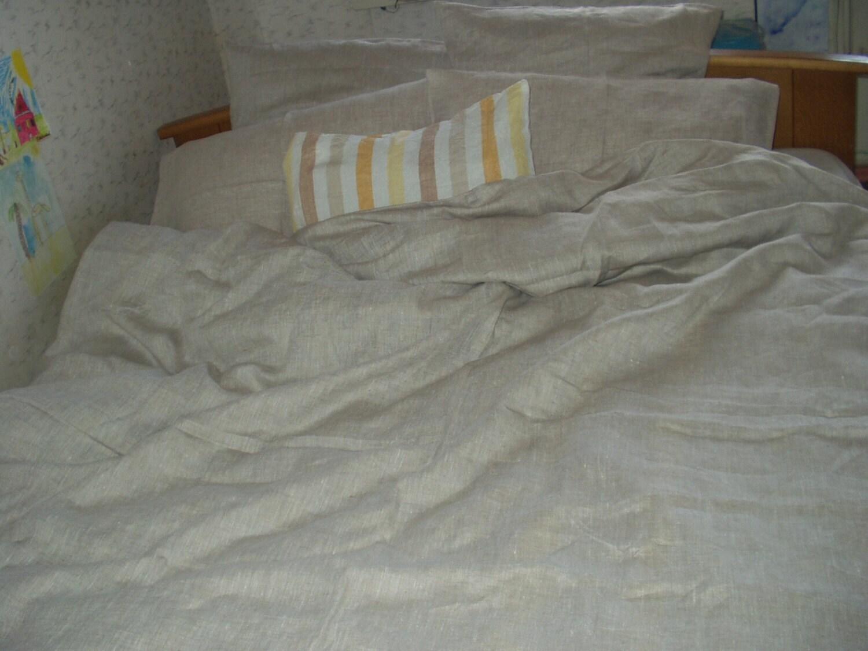 Duvet Cover Natural Oatmeal Color Linen Flax By Vilendalinen