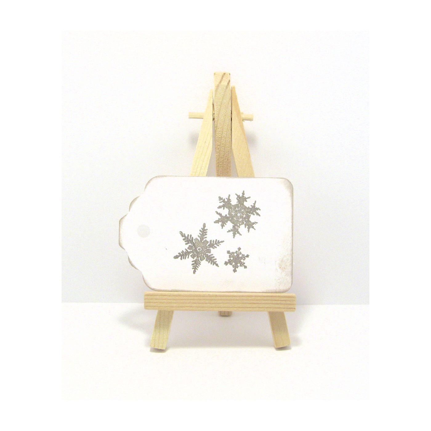 25 Snowflake Tags - Vintage Inspired Christmas Tags -  Holiday Gift Tags - Christmas Gift Tags - Distressed Tags - Snowflake Tags - PetuniasWhimsy