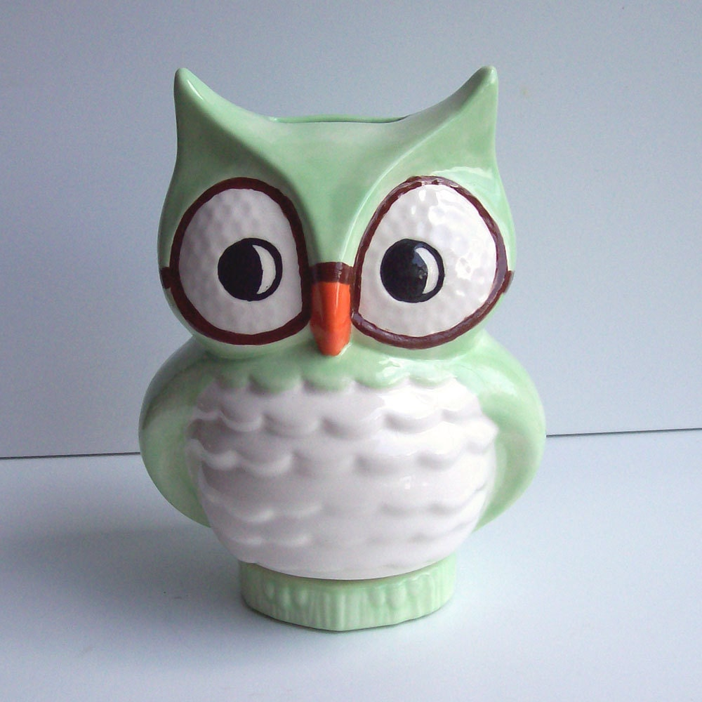 Wise Owl Bank Vintage Design Mint Green