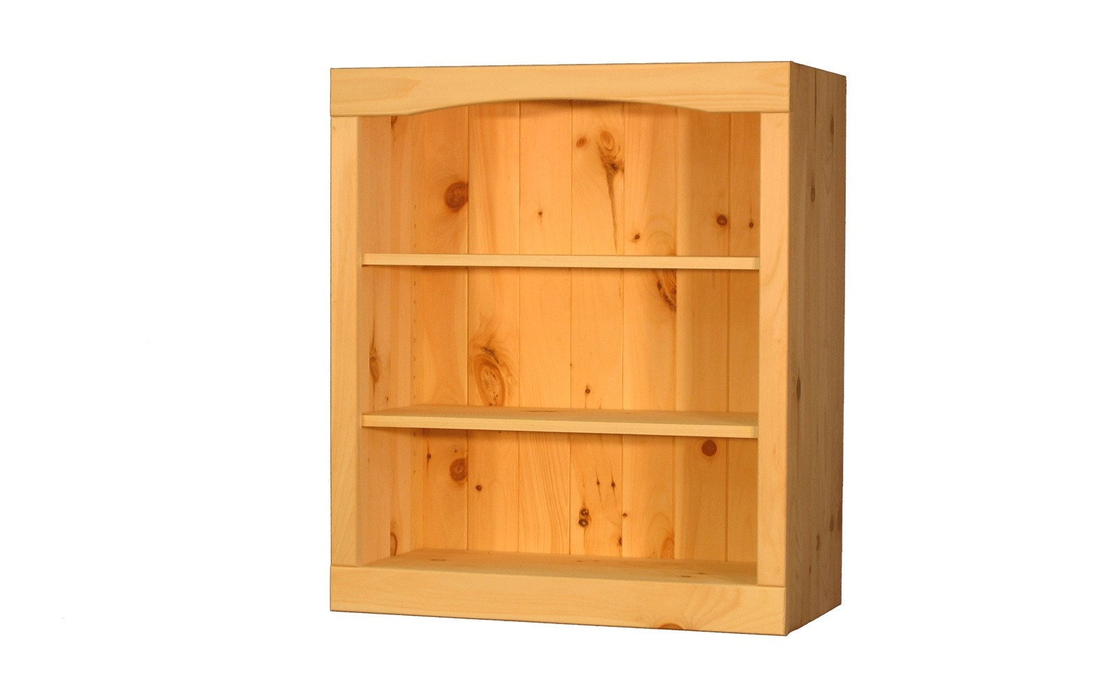 solid pine bookcase 24w x 29h x 12d by thewoodlandmills on
