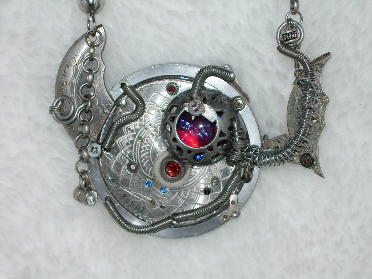 STEAMPUNK BORG QUEEN Jewellery Jewelry Dark Sorcerer Necklace Sci Fi Pendant