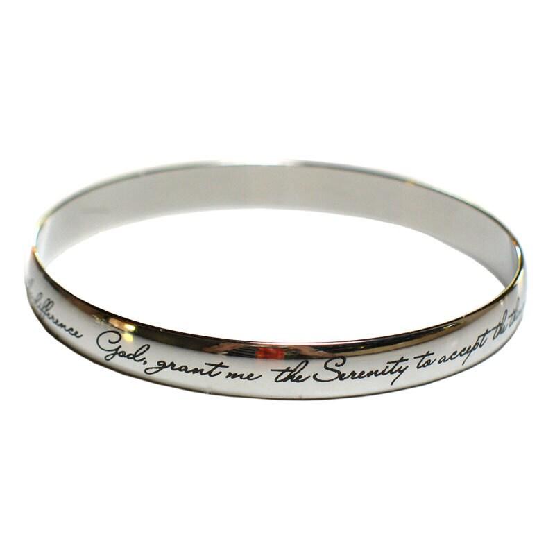 serenity prayer bangle bracelet by serenityisforever on etsy