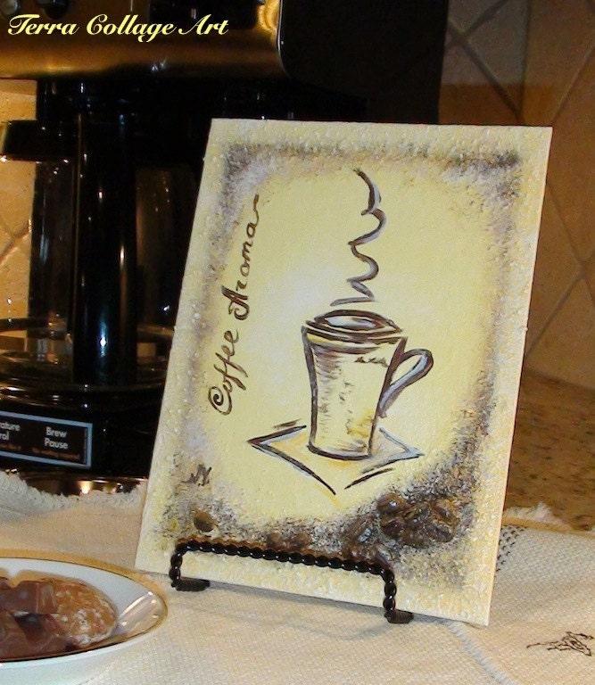 6x8in аромат кофе.  Оригинальные Смешанные Art Media