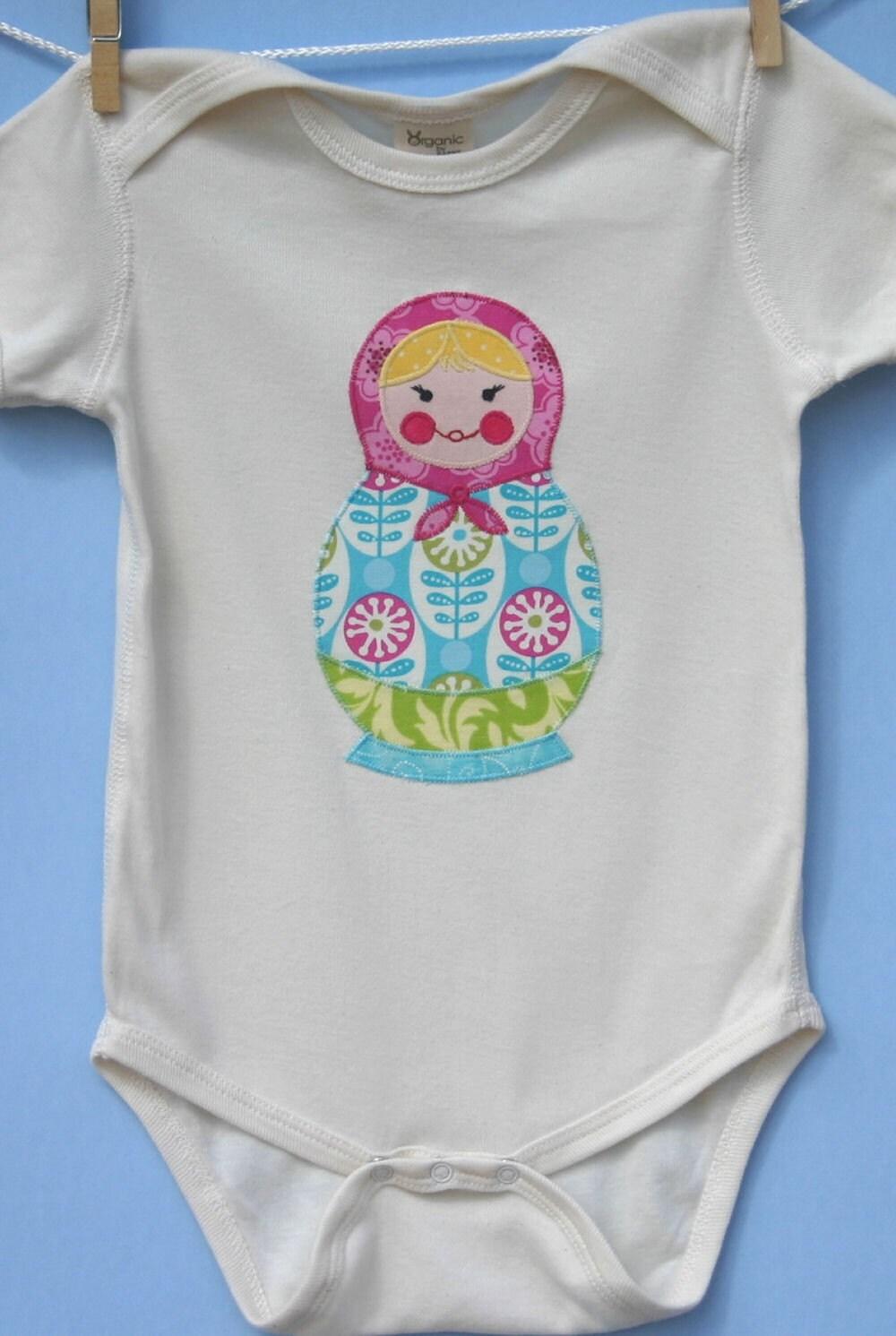 Matryoshka Russian Doll Organic Onesie 18 month