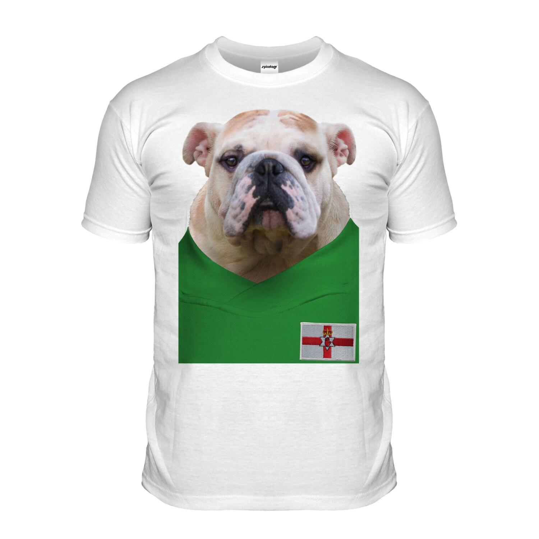 Northern Ireland Football Bulldog Tshirt Irish Bull Dog T shirt Puppy 2016 European Tee